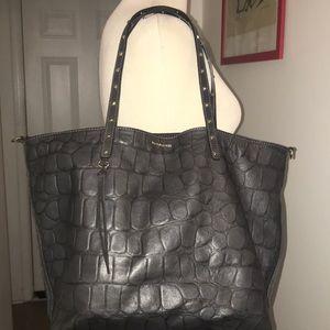 Dimoni Dark Grey Leather Croc Pattern Bag 😘